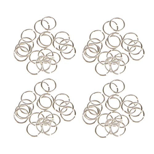 Colcolo 80pcs 925 Sterling Silver Jump Rings Split Rings Jewelry Making Findings Crafts