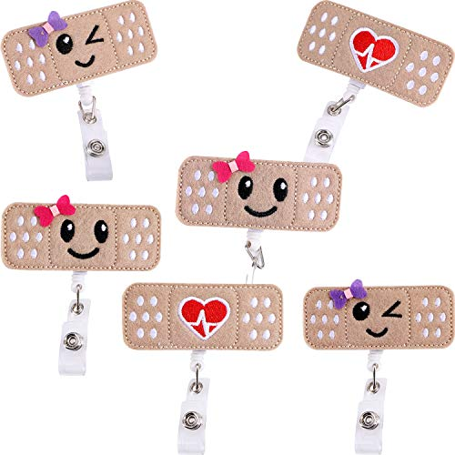 6 piezas de la enfermera Badge Reel Holder Nombre retráctil Badge Holder Badge Reel Clip con Alligator Clip para enfermeras regalos