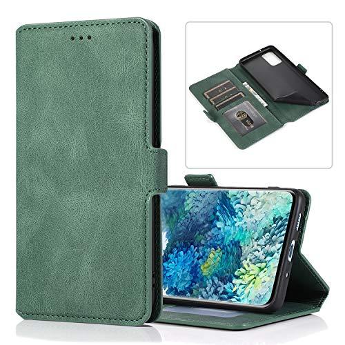 Snow Color Galaxy S20 FE Hülle, Premium Leder Tasche Flip Wallet Case [Standfunktion] [Kartenfächern] PU-Leder Schutzhülle Brieftasche Handyhülle für Samsung Galaxy S20 FE - COKLT010531 Grün