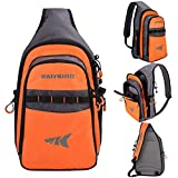 KastKing Pond Hopper Fishing Sling Tackle Storage Bag – Lightweight Sling Fishing Backpack - Sling Tool Bag for Fishing Hiking Hunting Camping, Without Box,17.7X 12.6X 6 Inches,Orange