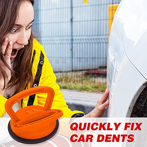 QQCherry Dent Puller, Dent Repair Puller, 2 Pack-Powerful Traceless Dent Removal for Repairing Cars Computer Screen Glass Tiles Mirror Lifting and Objects Moving (Orange, Black)