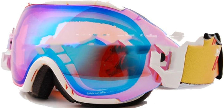 TZQ Double Anti-fog Ski Goggles Spherical Cocaine Myopia Goggles,D