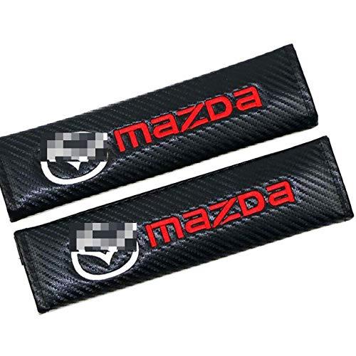 LLFFDC 2Pcs Almohadillas CinturóN de Seguridad para Mazda, Almohadilla del CinturóN Seguridad AutomóVil CinturóN Seguridad Carbono Protege Tu Cuello Y Hombros Apertura Cortical