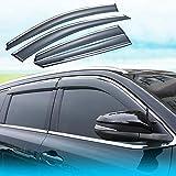DERIVABRISAS coche for Hon-da CRV 2012 2013 2014 2015 2016, de la puerta lateral del viento deflectores de viento visera lluvia Escudos Guardia cubiertas de salida del protector externo Fit 4 piezas