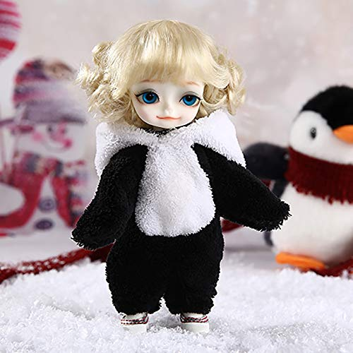 ZHDQ BJD Muñeca Ropa Encantador Pingüino Siamés Ropa para Mini 1/8 SD Muñeca, Fit Doll Cosplay Party Dress Up (Sin Muñeca)
