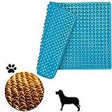 ROVE Alfombrilla de silicona de 2 cm, semiesférica, con botones, molde de 140 unidades, para galletas para perros, golosinas para perros, papel de hornear, base para bombones (azul)