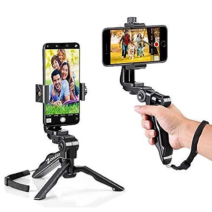Zeadio smartphone estabilizador y trípode Combo, soporte rotativo 360 degree + trípode multifuncional portátil para teléfonos