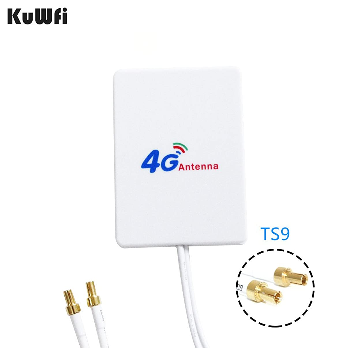 KuWFi 3G 4G LTE Antenna TS9 Connector 4G LTE Router Anetnna 3G External Antenna with 3m Cable for 3G 4G LTE Router Booster Strong Signal