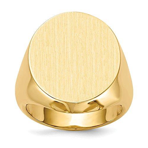 DIAMOND2DEAL da donna in oro giallo 14K 21mm da uomo con sigillo anello taglia 10