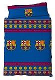 F.C. Barcelona Juego de Cama 2 Piezas. Funda Nórdica + Funda de Almohada. Producto Oficial Barça 180 X 220 (Cama 105 cmts)