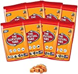 Survival Tabs 8-Day Food Supply-Emergency Survival Food MRE for Camping Biking, Disaster Preparedness Gluten-Free Non-GMO 25 Years Shelf Life (8 Pouches x 12 Tablets = 96 Tablets/Butterscotch)