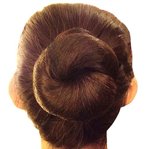 Bignc Lot de 40 filets à cheveux invisibles réutilisables en maille pour chignon pour femme Marron 50 cm
