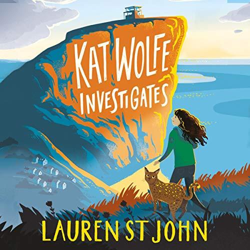 Kat Wolfe Investigates audiobook cover art