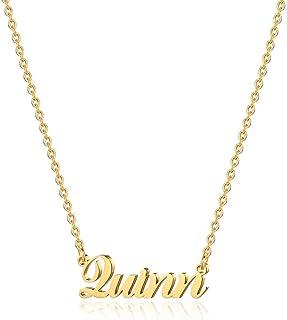 M MOOHAM Custom Name Necklace Personalized - 18K Gold Plated Personalized Name Necklaces for Women Girls Kids Child, Plate...