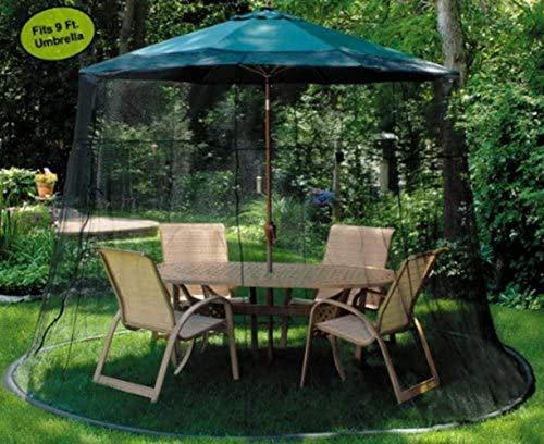 WYJW Garten Sonnenschirme Moskito Einzeltür Netz 300 * 230CM, Patio Umbrella Bug Screen W/Reißverschlusstür, Polyester Netz