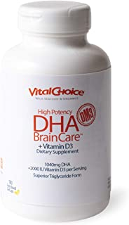 Sponsored Ad - Vital Choice High-DHA Brain Care + Vitamin D3, 850 mg, 180 Count Bottles