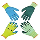 Kids Gardening Gloves for Ages 2-12 Toddlers, Youth, Girls, Boys, Children Garden Gloves for Yard Work (Size 6 for 11, 12 Year Old)