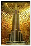 Sunsightly Empire State Building Art Deco Gold Poster