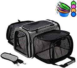 Coopeter Luxury Pet Carrier Two Soft-Side Expansion,Pet Travel Carrier for Dog & Cat