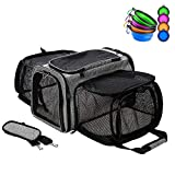 Coopeter Luxury Pet Carrier Two Soft-Side Expansion,Pet Travel Carrier for Dog &...