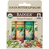 Badger - Cocoa Butter Lip Balm Set, Fair...