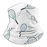 Annays Cache Cou Tubulaire Raquette De Tennis Hommes Femmes Visage Couverture École 26X30 Cm Temps Froid Chapeaux Cache-Cou Cache-Cou Coupe-Vent Motocyclisme Pêche Travail