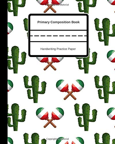 Primary Composition Book Handwriting Practice Paper: Story Journal For Kids, Elementary Students, Grades K-2, Preschool, Full Story...