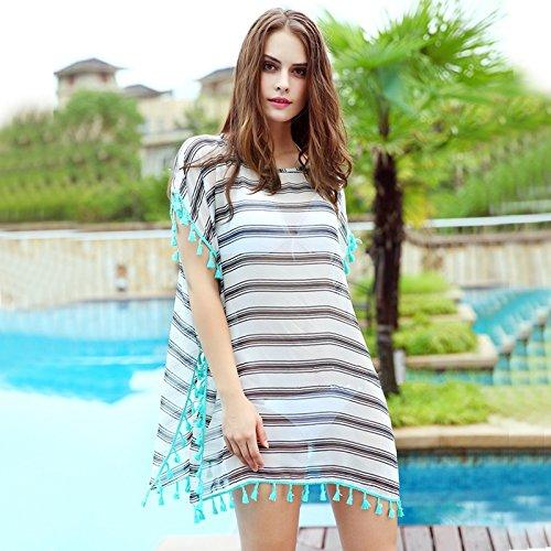 HAN-NMC El bañador Femenino Playa Bikinis Cubrir Falda Falda Blusa ...