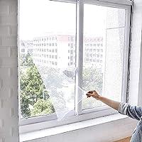 Glorwefy 網戸 張り替え 窓用 防虫ネット DIY網戸ネット DIYキット 蚊を防ぐ 簡単取り付け 玄関カーテン用 自粘 メッシュ 便利 カットできる 補修 開き戸に適用 涼しい夏 小窓用貼るだけ 蚊帳 貼るだけ編み戸(1.5*2m ホワイト)
