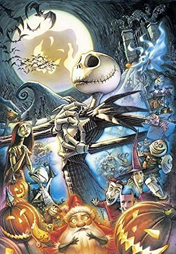 Zzsyu Large Puzzle 1000 Pieces Wooden Jigsaw Puzzle for Adults Kids Difficult Puzzle Children's Educational Toy Birthday (The Nightmare Before Christmas)