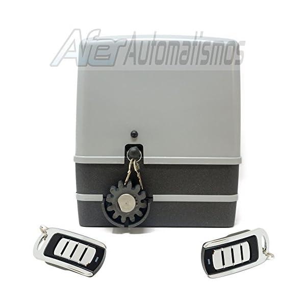 Kit-motor-para-puerta-de-garaje-o-cancela-corredera-VDS-SIMPLY-600-Kg--230-v-2-mandos-Rolling-code-4-canales-433-Mhz