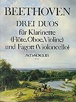 BEETHOVEN - Duos (3) para Clarinete (Flauta) (Oboe) (Violin) y Fagot (Violoncello) (Hess)