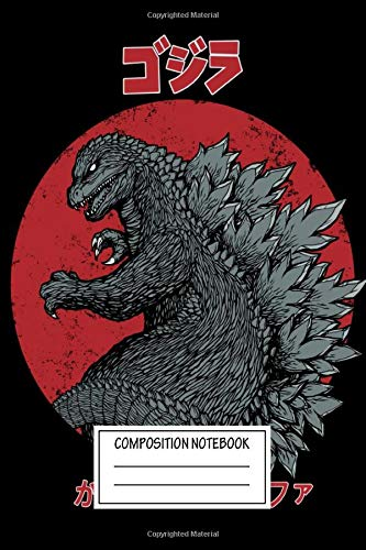 Composition Notebook: Tv Shows Gojira Kaiju Alpha Movies And Poster Art Wide Ruled Note Book, Diary, Planner, Journal for Writing