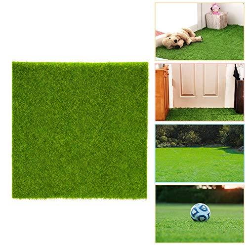 2 Maten Gras Tegel Gazon Synthetische Kunstgras Mat Turf Gazon Tuin Micro Landschap Ornament Home Decor Kunstgras Rug Niet Giftig voor Huisdier 30 * 30cm