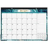 2021 Schreibtischkalender - Schreibtischkalender 2021 mit Aufgaben und Notizen und julianischem Datum, Januar 2021 - Dezember 2021, 17'x 12', dickes Papier mit buntem Hintergrundmuster
