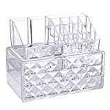 Ikee Design Diamond Pattern Jewelry & Cosmetic Storage Display Boxes Two Pieces Set.