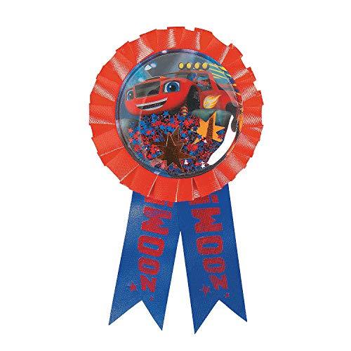 Fun Express - Blaze & Monster Machine Award Ribbon for Birthday - Party Supplies - Licensed Tableware - Misc Licensed Tableware - Birthday - 1 Piece