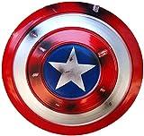 Escudo Capitan America Metal 1: 1 Adulto Apoyos de Película Niños Hierro Forjado CapitáN AméRica Shield Vengadores Decoración De Pared De Tienda De Bar Creativo D,47CM
