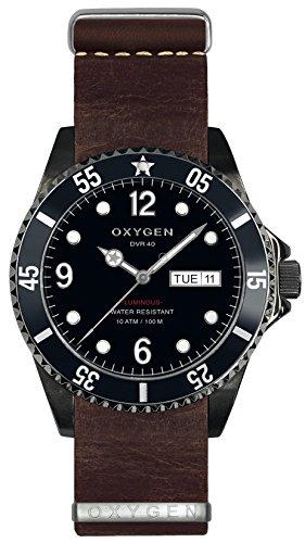 OXYGEN EX-D-MBB-40-NL-DB - Reloj de Pulsera Unisex, Piel, Color marrón