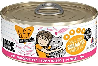 Best Feline Friend BFF Canned Cat Tuna & Salmon Soulmates 5.5 oz Case 24