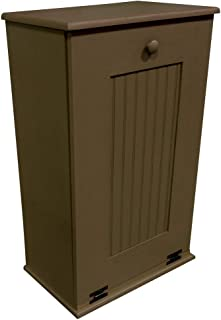 Best wooden tilt trash can holder Reviews