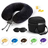 AERIS Memory Foam Travel Pillow for Airplanes - Best Airplane...