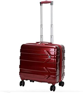 """XLHJFDI Ultralight Business Trolley Case,Stylish Boarding Case,Silent Universal Wheel Suitcase,with TSA Customs Lock,PC,18"""" Inch(Color : Black, Red (Color : Red)"""