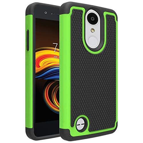for LG Aristo Case, LG Phoenix 3 Case, LG Fortune Case, LG Rebel 2 LTE Case, LG Risio 2 Case, LG K8 2017 Case, OEAGO [Shockproof] Hybrid Dual Layer Defender Protective Case Cover (Green)