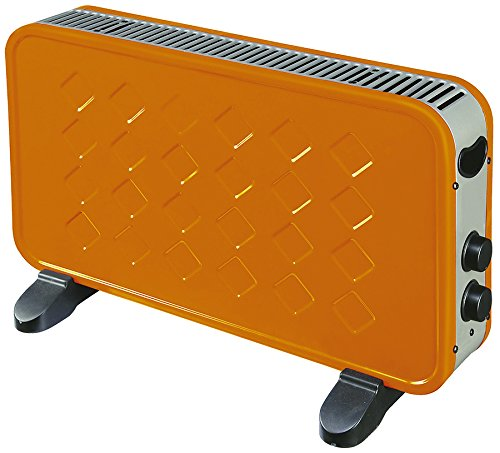 Kekai KT0595 - Convector Electrico Potencia 1000/2000 W Naranja 60x10x35 cm