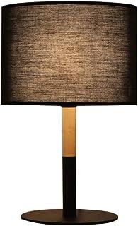 SMEJS Lámpara de mesa lámpara de mesita de noche lámpara de mesilla de noche lámpara de escritorio con base de madera c...