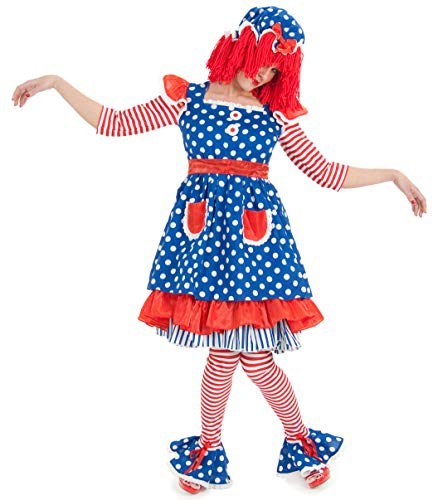 Princess Paradise Women's Raggedy Ann Deluxe Costume, As Shown, Large
