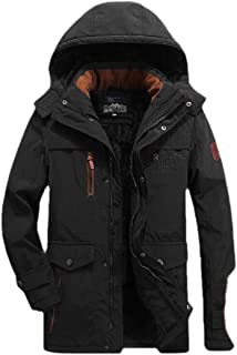 Men's Thicken Winter Parkas Faux Fur Lining Jacket Hooded Outerwear