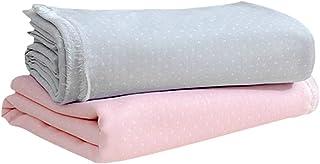 二重 ダブルガーゼ 生地 手ぬぐい コットン 綿 カットクロス はぎれ ハギレ 無地 布 水玉 裁縫 赤ちゃん 手芸 ピンク 156cm*100cm