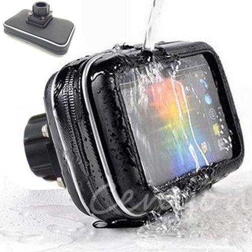 5' GPS Water Resistant Case w/1' Female Socket Adapter for Arkon Robust Ram Mount 1inch Ball Mount (Garmin Drive Smart Nuvi 50 51 52 55 56 57 58 2597 2599 LM LMT TomTom Via GO Start 50 51 500 5100)